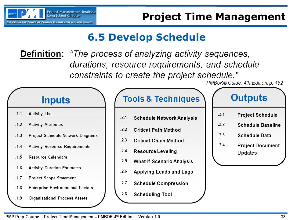 automated requirements analysis and timetable scheduling Time scheduling is a collection of techniques used to develop and present schedules that show when work will be performed general the choice of tools and techniques used to develop a time schedule depends upon the level of detail available about the work that needs to be done.