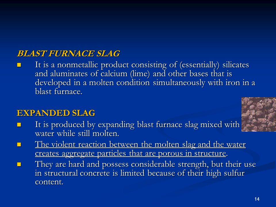 Blast Furnace Slag Aggregate Lightweight : Lightweight aggregates l w a ppt download