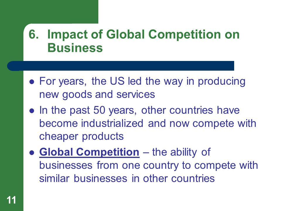 Impacts of globalization on consumer product