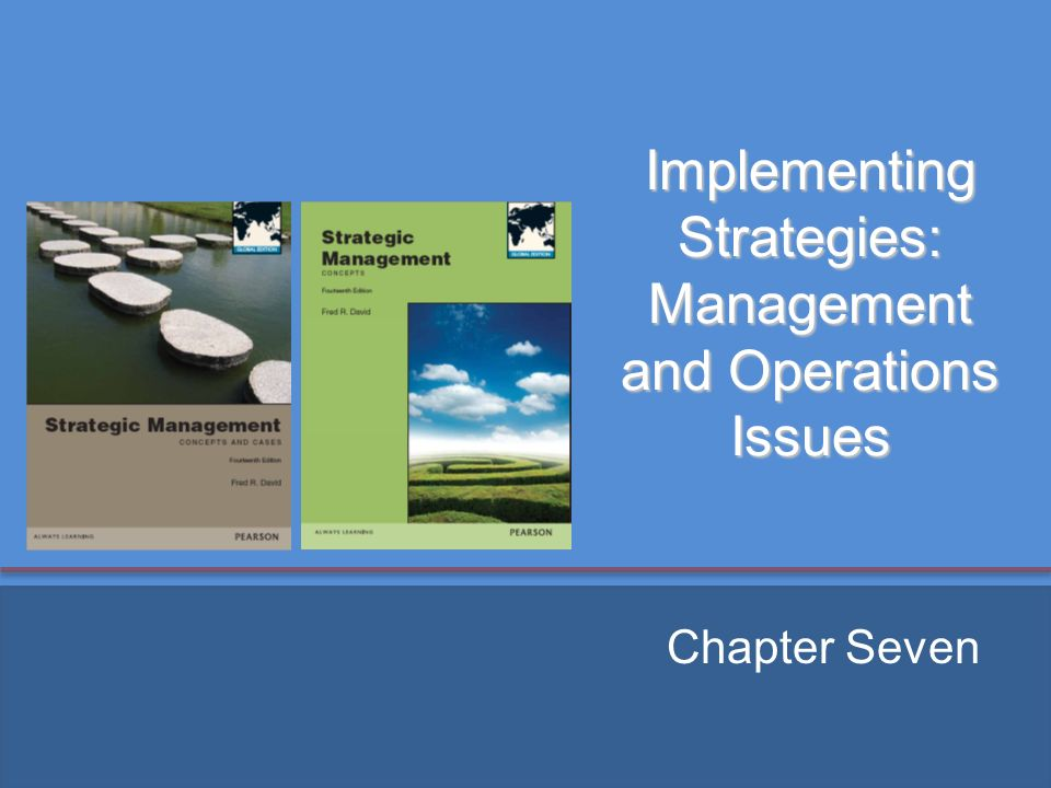 strategic operations issues