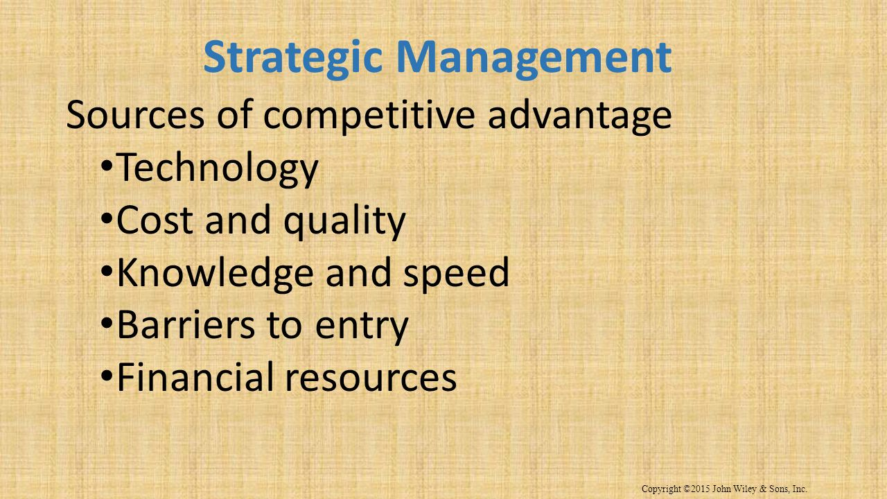 6 Sources of Competitive Advantage