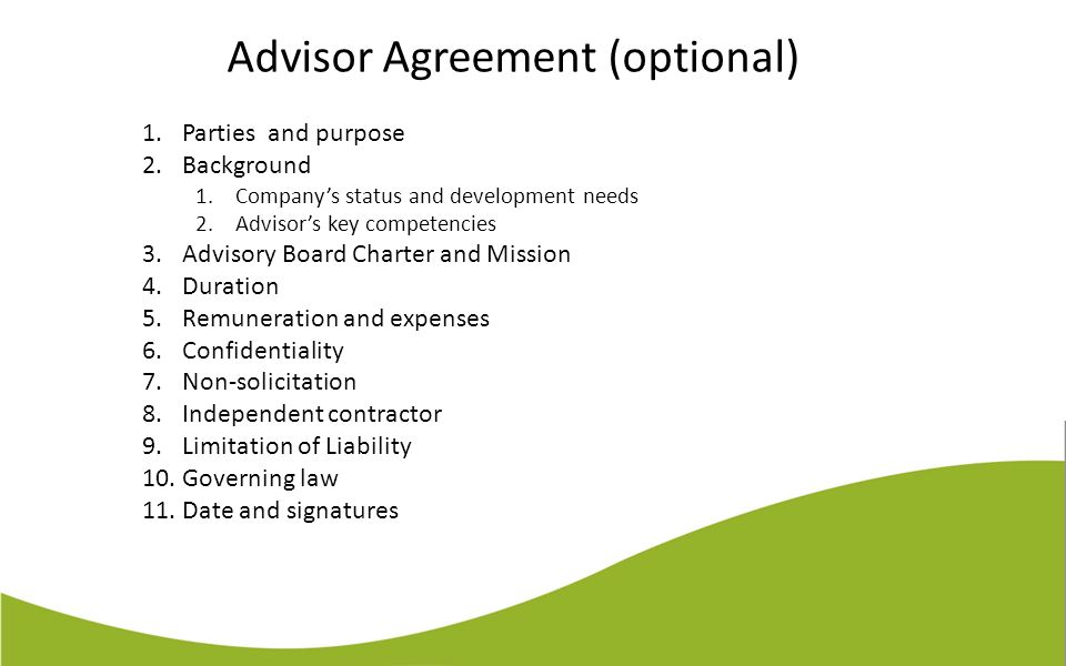 Advisory Agreement Template  ApigramCom