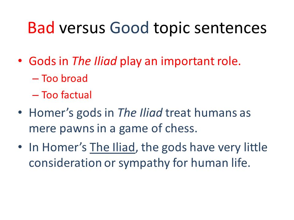 how to make a good topic sentence