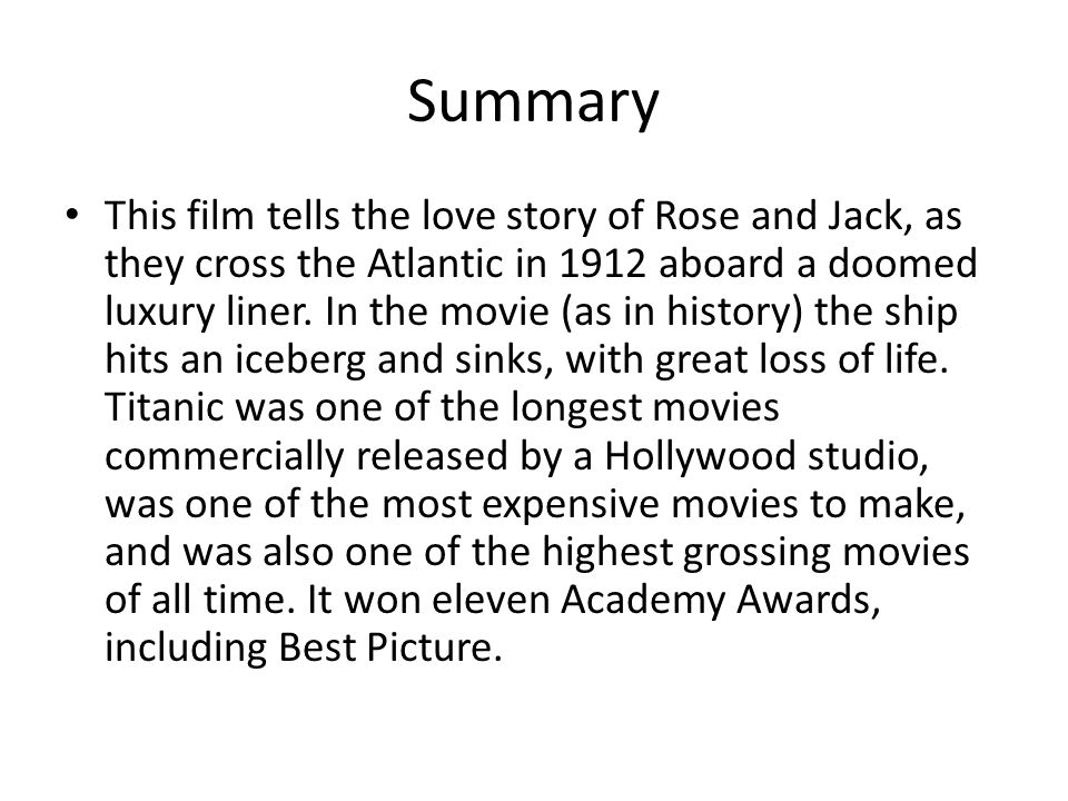 titanic video in summary essay
