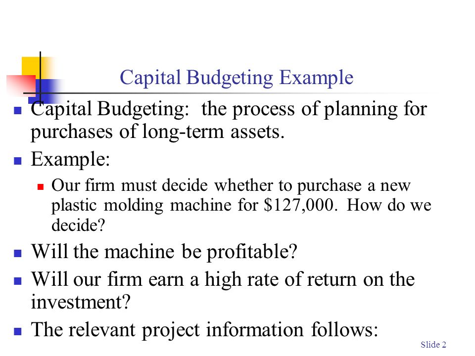 Capital budgeting in small firms essay