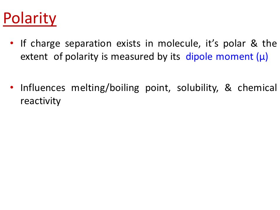 polarity and melting point relationship