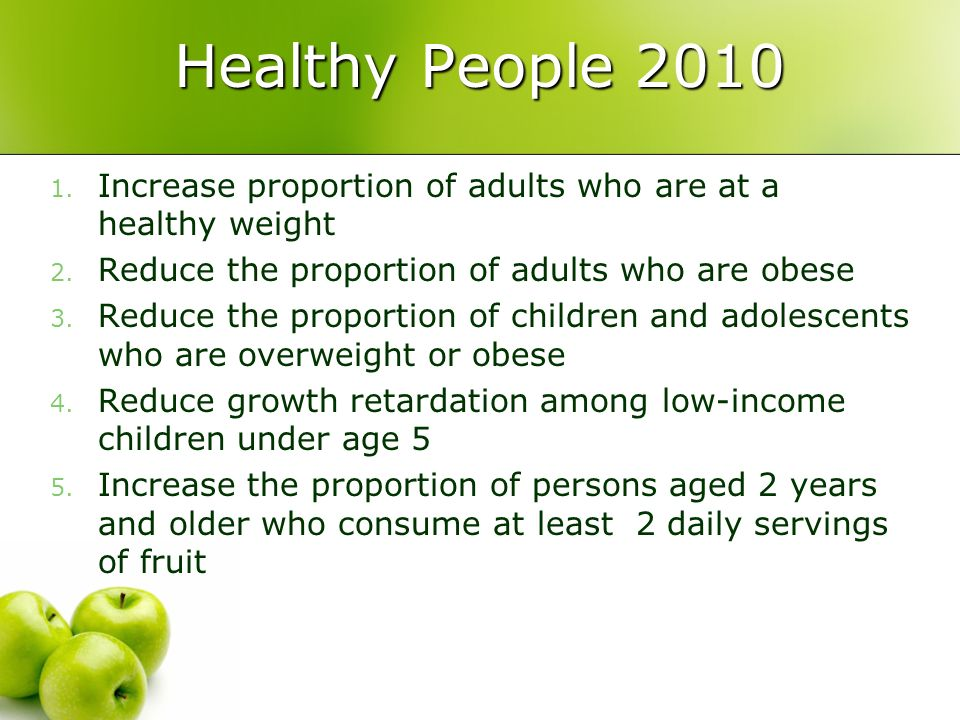 what is healthy people 2010 About healthy people 2010/2020 the us department of health and human services has established a framework for prevention for the nation it is a statement of national health objectives designed to identify the most significant preventable threats to health.