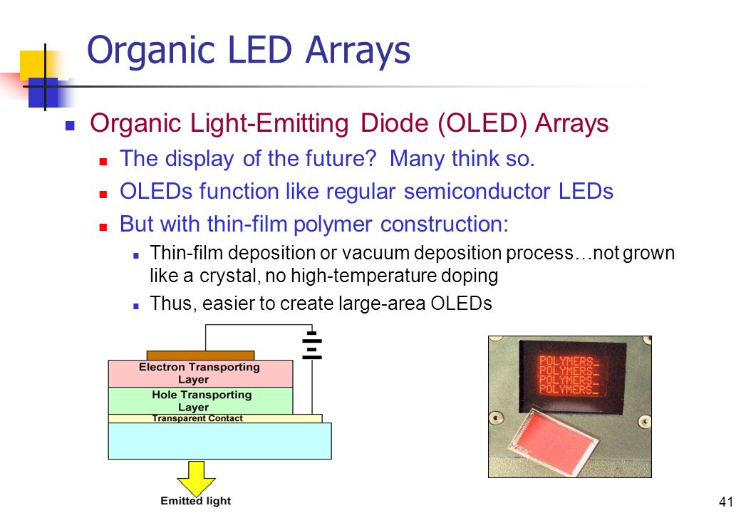organic light emitting diode Described herein are molecules for use in organic light emitting diodes example molecules comprise at least one moiety a and at least one moiety d values and preferred values of the moieties a and d.