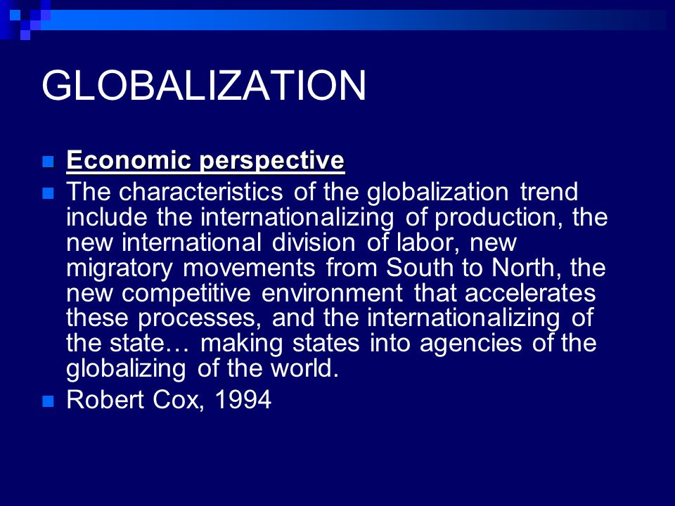 Analyses the three interrelated features of the economic perspective?