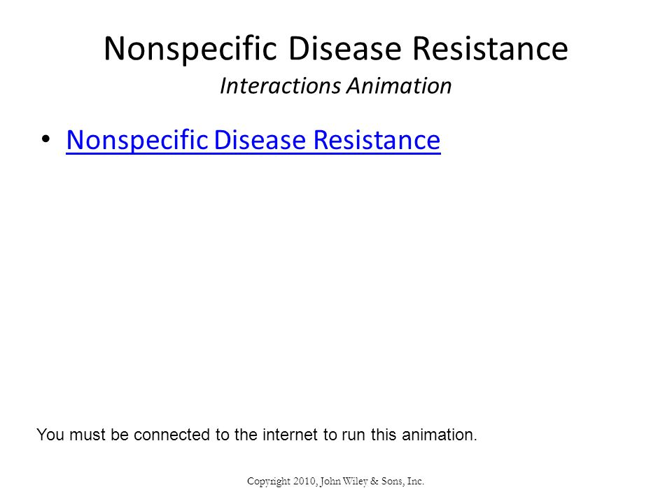 Nonspecific Disease Resistance Interactions Animation