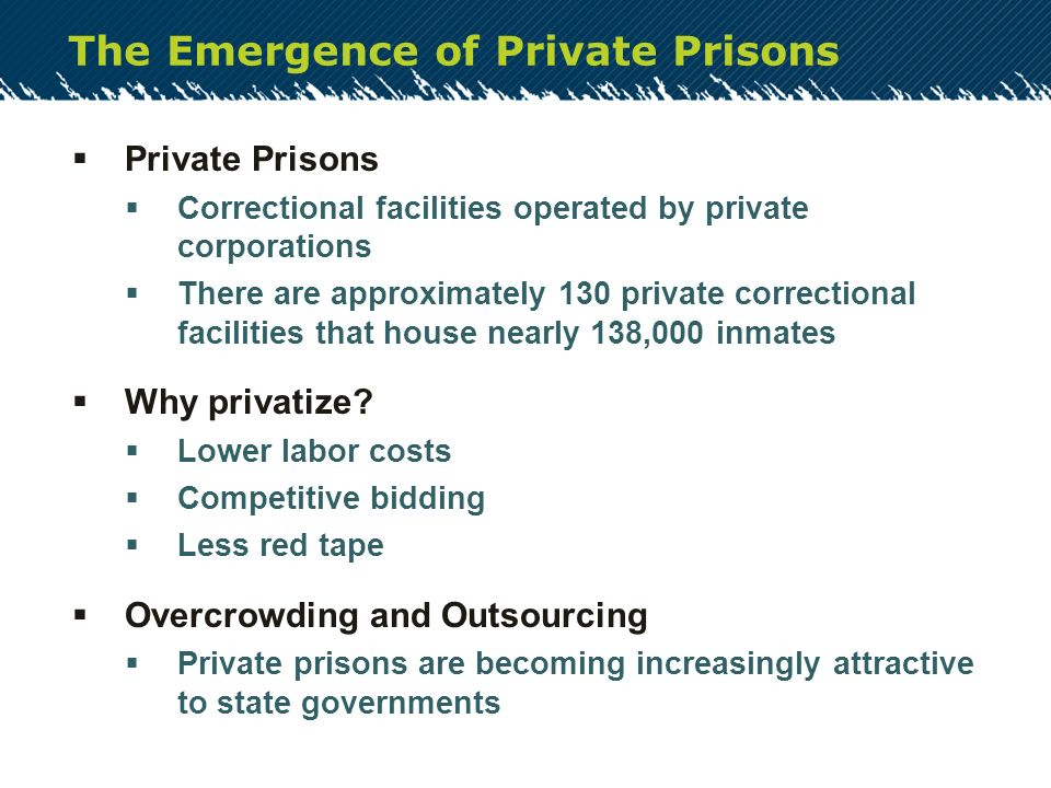 The Debate Over America's Prisons: Private vs. Public