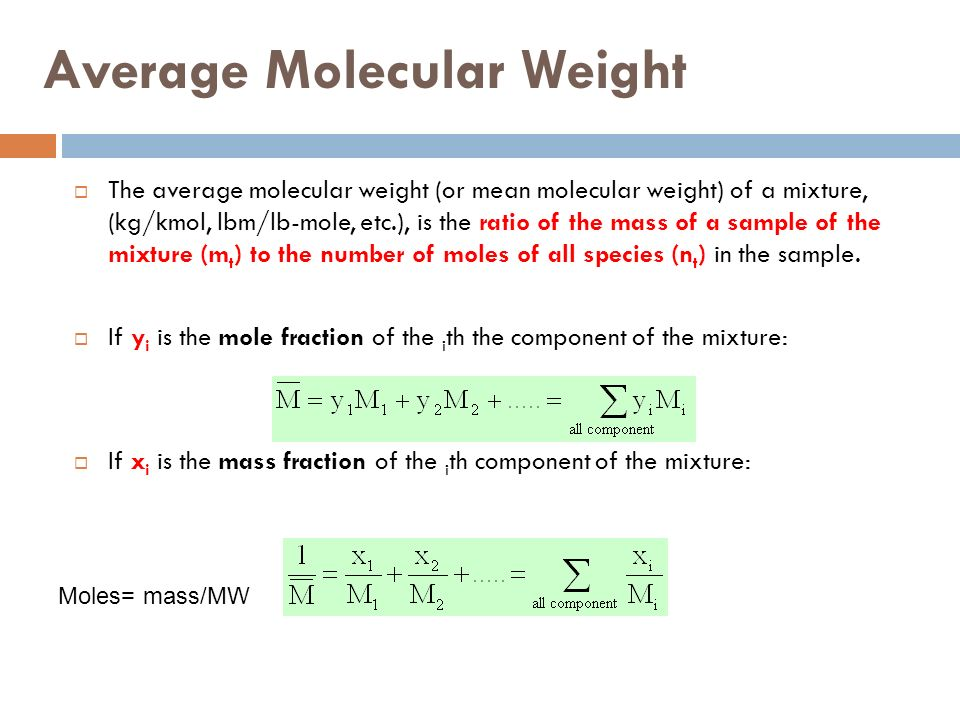 Y Molecular Weight CHAPTER 2 Processes an...