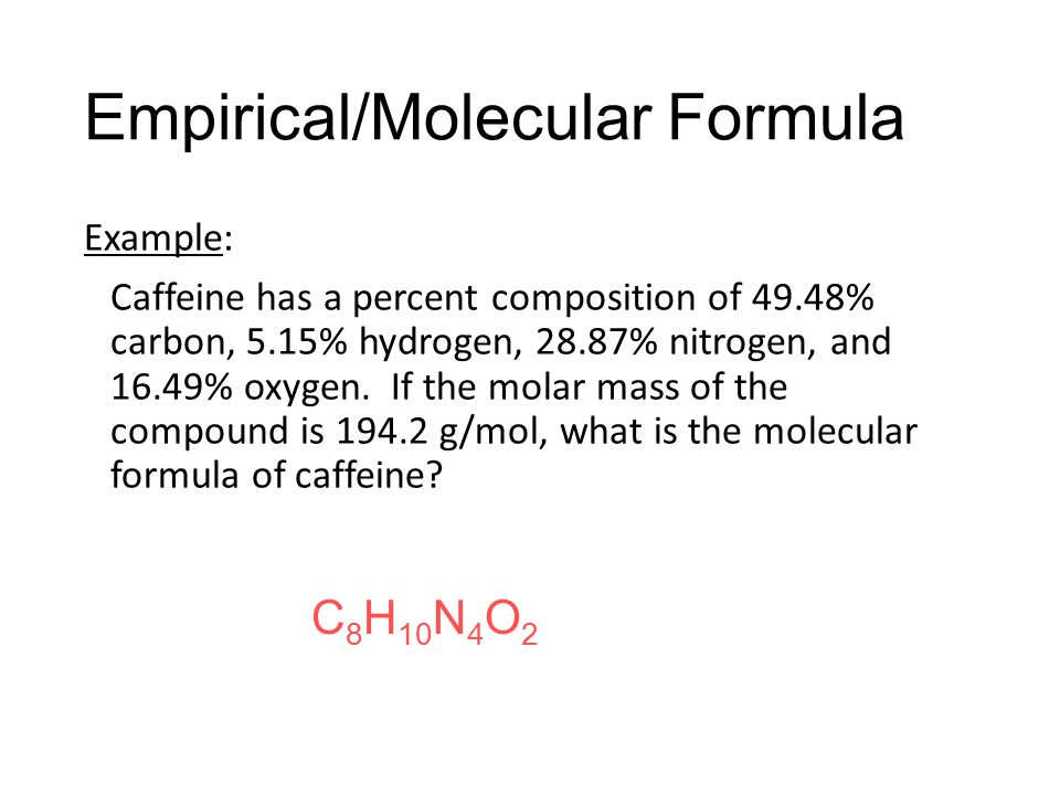 how to find molecular formula from molar mass