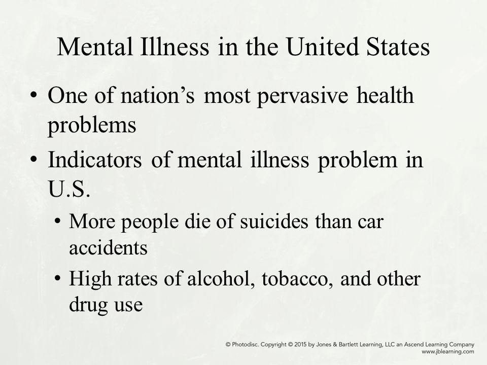 a research on the history of mental illness in the united states In this entry we present the latest estimates of mental health disorder prevalence   and evaluation and reported in their flagship global burden of disease study   the highest contribution to overall health burden in australia and united states   and resemble (in their family history, premorbid personality, age of onset, and .