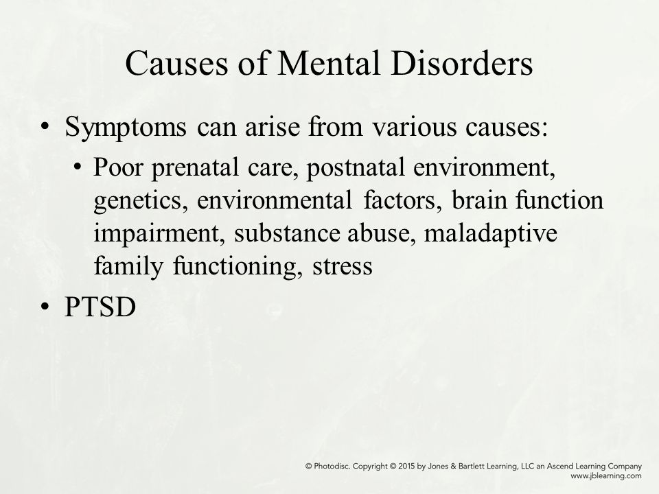 causes of mental disorders pdf