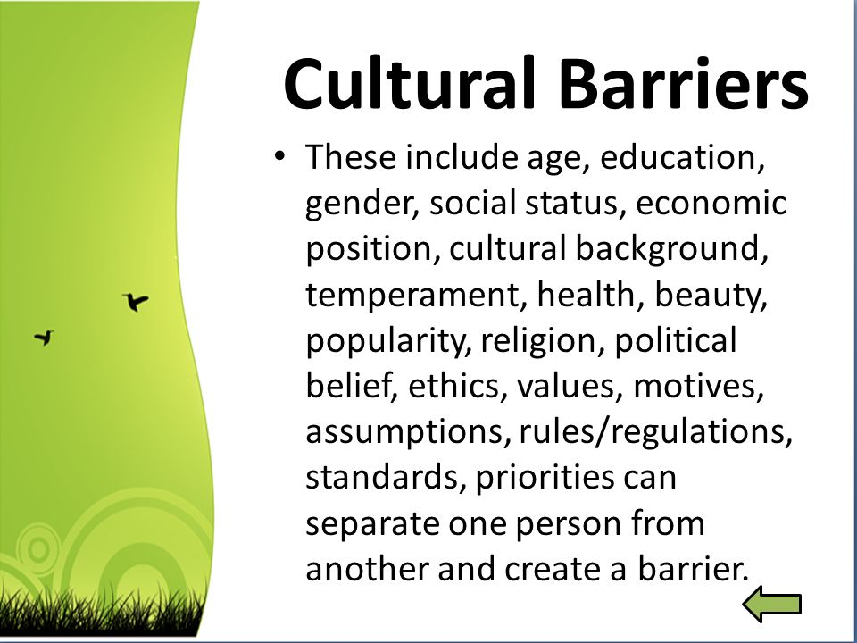 cultural barriers of communication