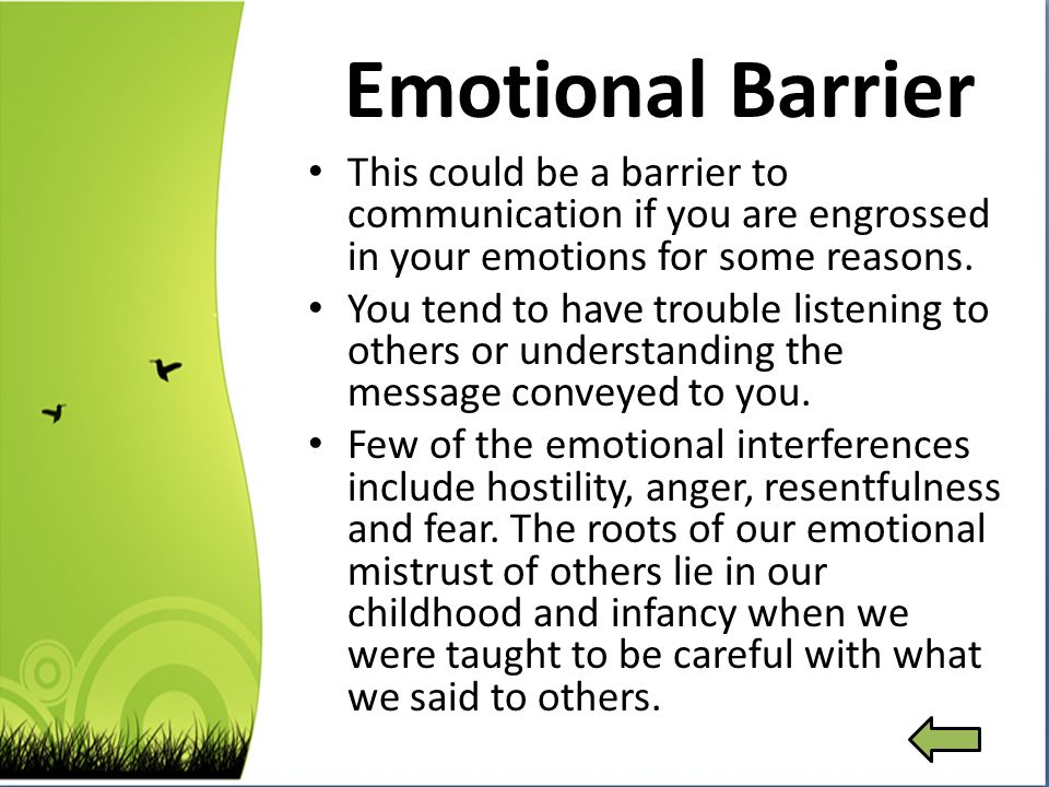 business communication psychological barriers to communication What are some examples of psychological barriers to communication  educational intent into business  find examples of psychological barriers in your everyday .