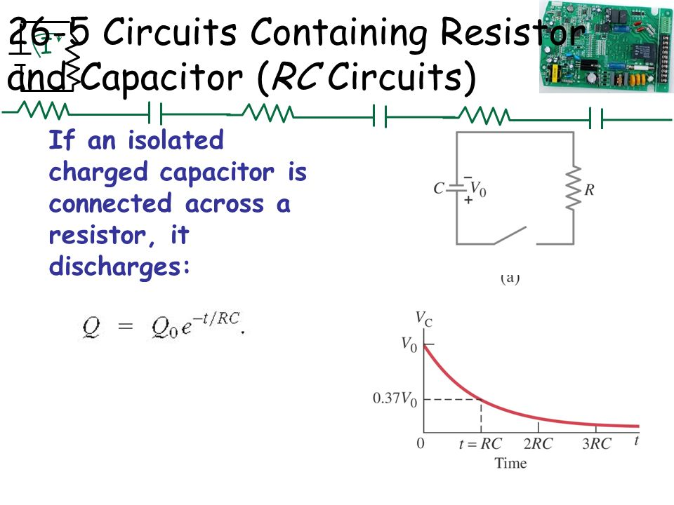 capacitance and rc circuits In a series rc circuit, the time constant is equal to the total resistance in ohms  multiplied by the total capacitance in farads for a series l/r circuit, it is the total.