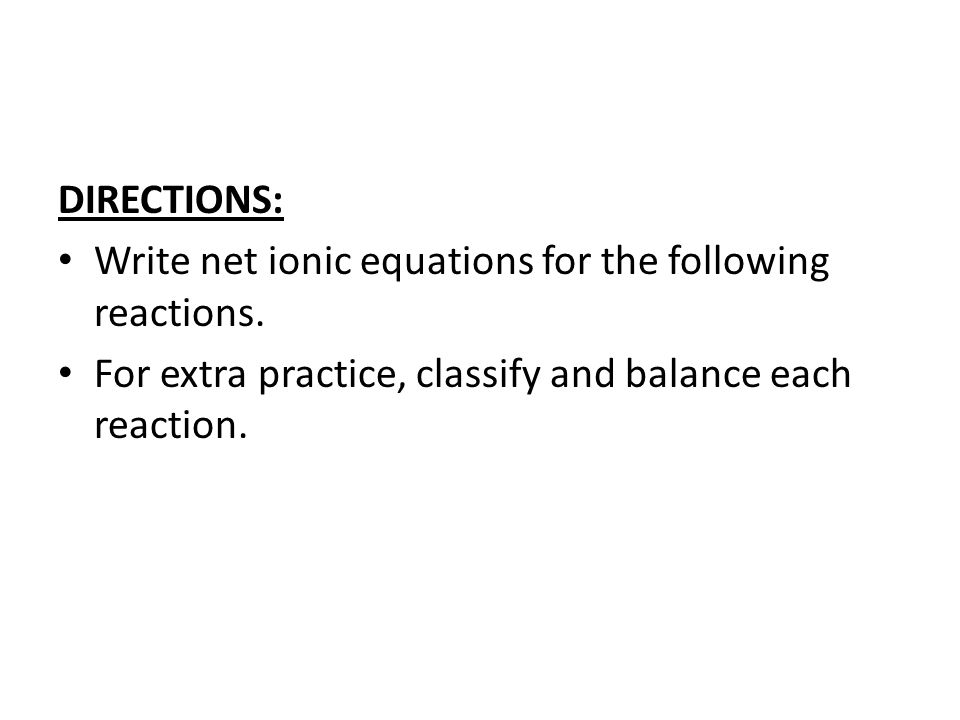 Midterm Reaction Review ppt video online download – Net Ionic Equations Worksheet