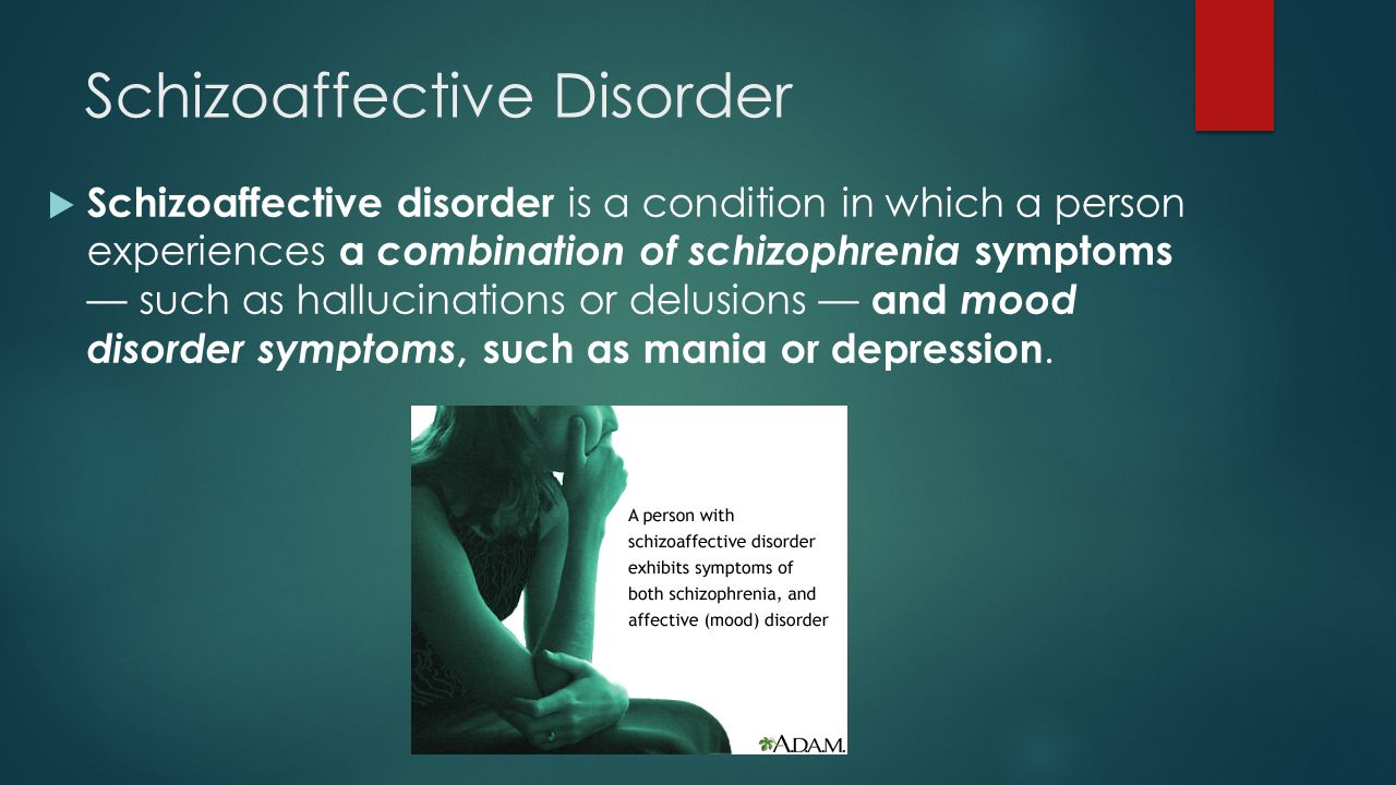 """schizoaffective disorder term paper The term schizoaffective disorder refers to a mental illness that is characterized by symptoms of thought disorder and mood disorder that """"are usually thought to run in."""