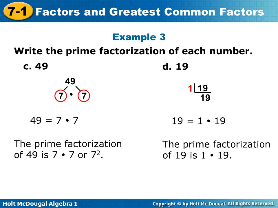 how to get the prime factorization of a number