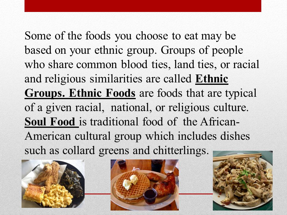 Choose an ethnic group to which
