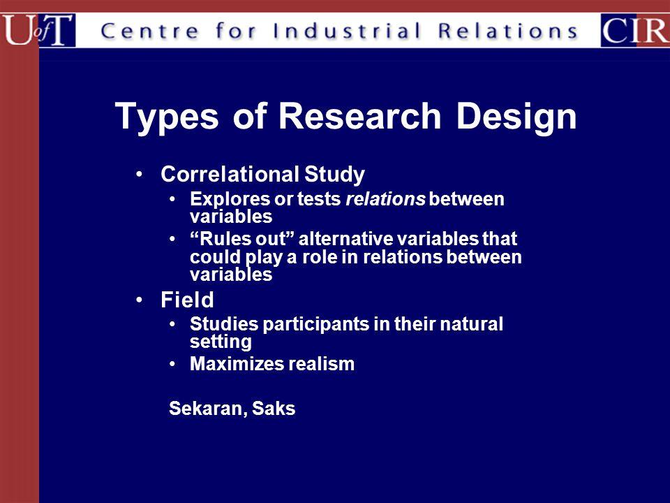 types of correlational studies