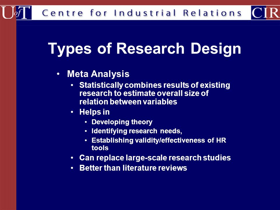 Types of research validity