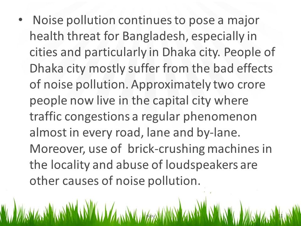 Noise Pollution & It's Sustainable Solution - ppt video ...
