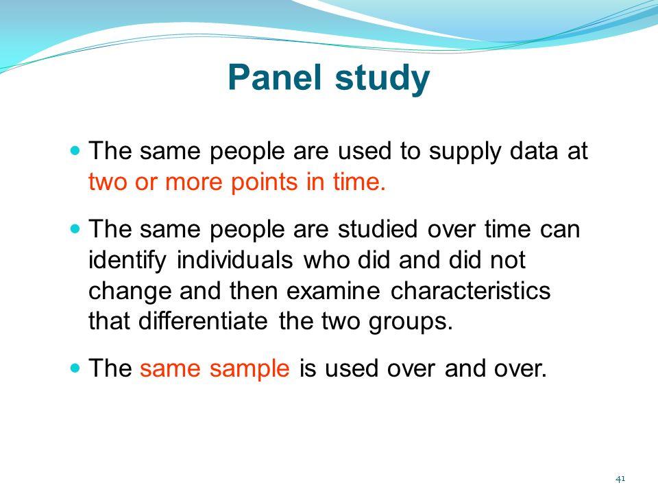 Panel study | Psychology Wiki | FANDOM powered by Wikia