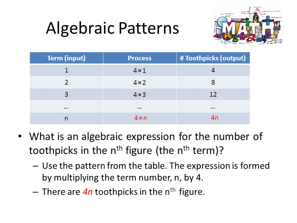 Patterns and expressions lesson ppt video online download for Table th nth