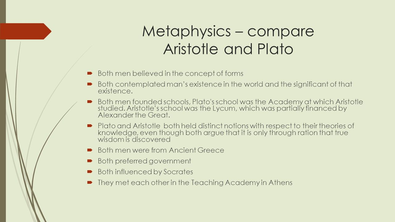 compare and contrast plato and aristotle's Free essay: compare and contrast plato and aristotle on well-being well-being: the state of being healthy happy or prosperous it seems obvious to suggest.