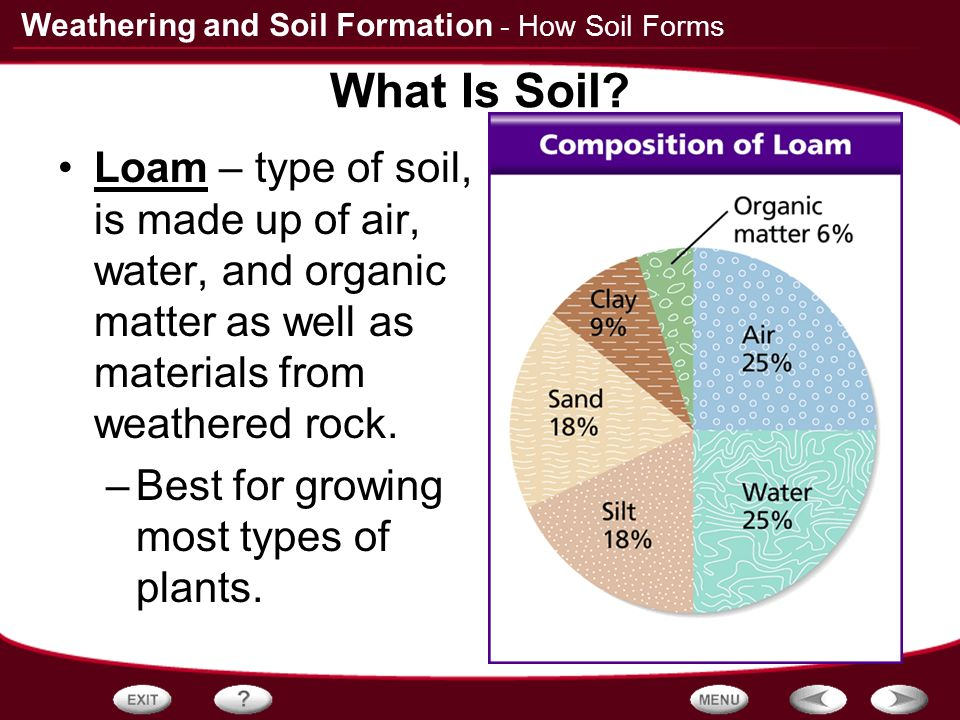 Table of contents rocks and weathering how soil forms for What 5 materials make up soil