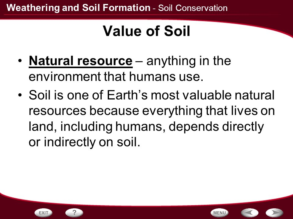 Table of contents rocks and weathering how soil forms for What is soil resources
