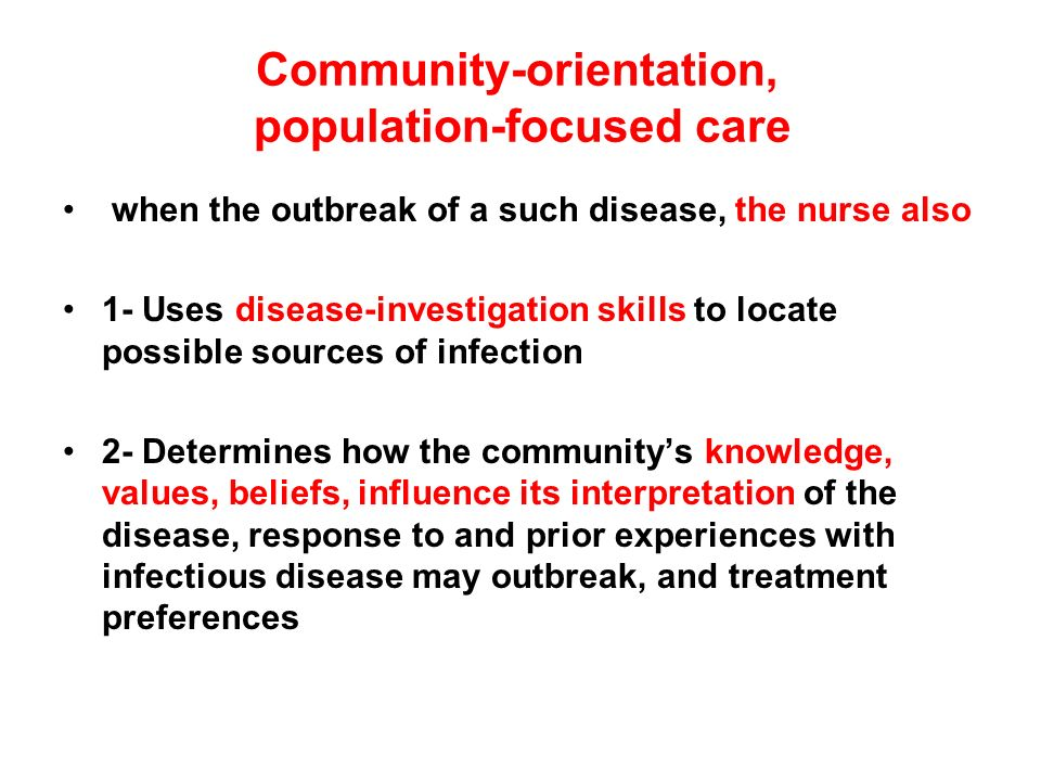 community health and population focused nursing Journal of community & public health nursing publishes empirical research  reports, program evaluations, and case reports focused on populations at risk.