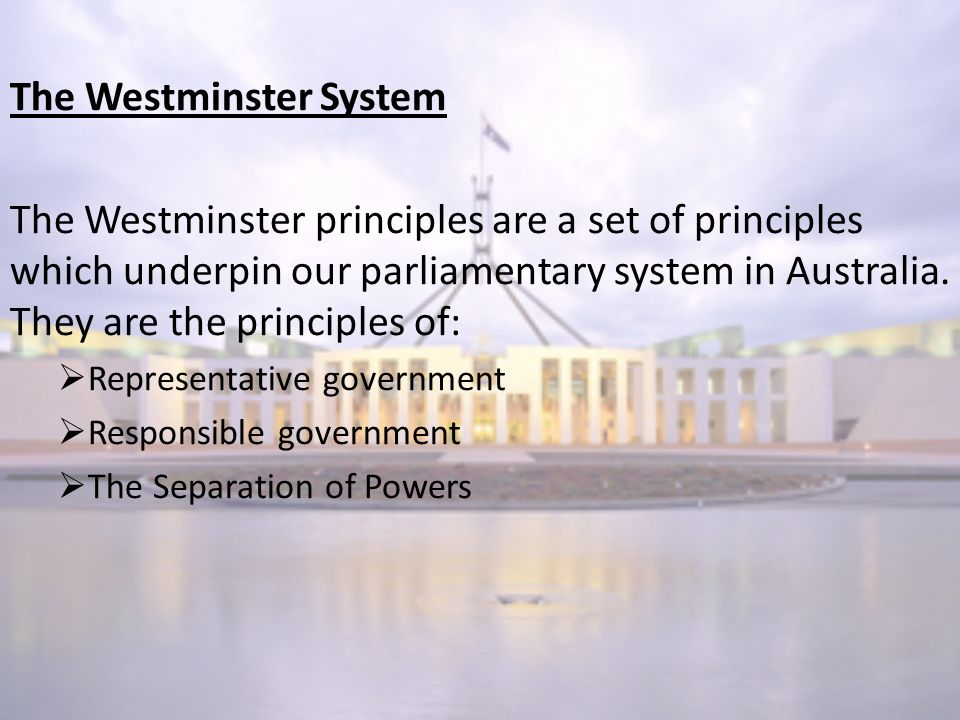 westminister system of government in melanesia New zealand's system of government follows the westminster model, with a constitutional monarchy, a sovereign parliament , and the.
