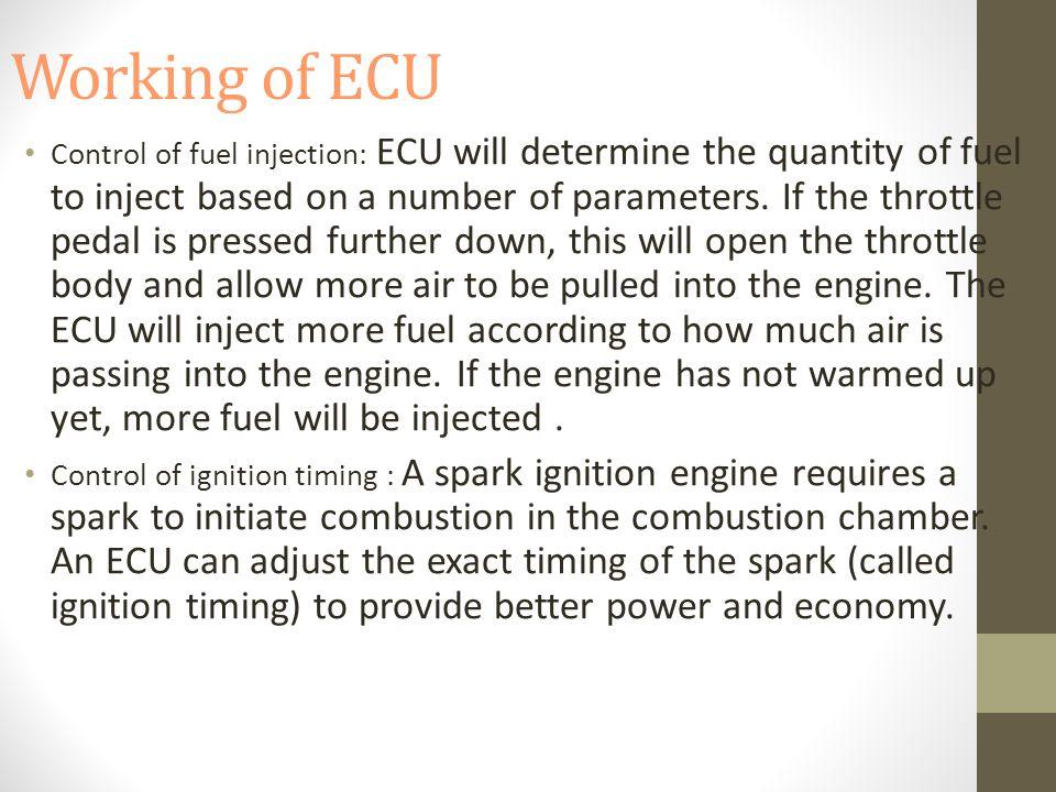 Working of ECU