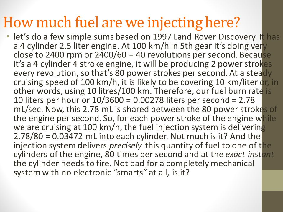 How much fuel are we injecting here