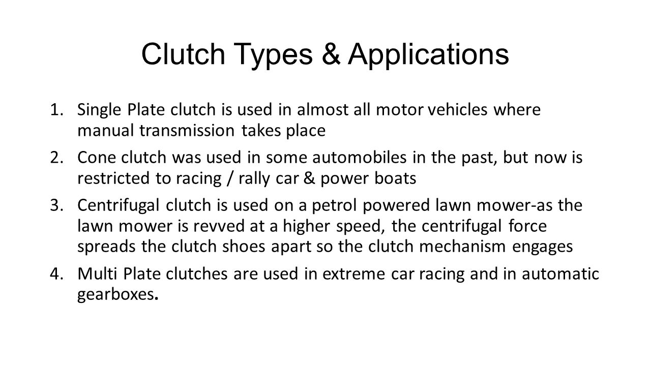 Clutch Types & Applications