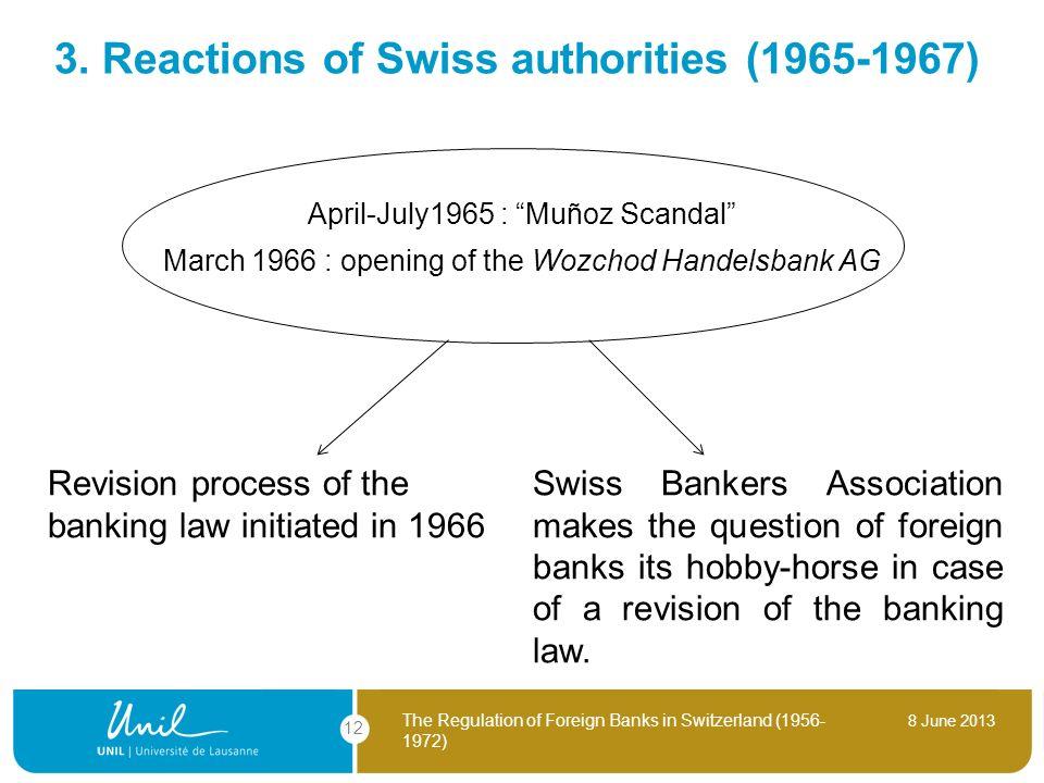 3. Reactions of Swiss authorities (1965-1967)