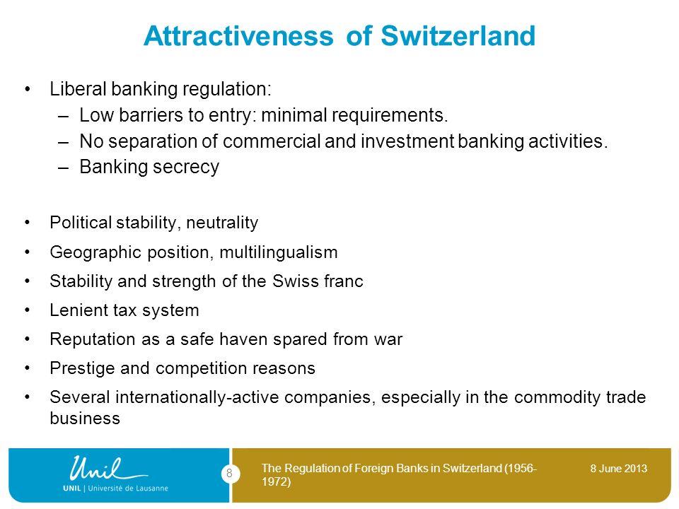 Attractiveness of Switzerland