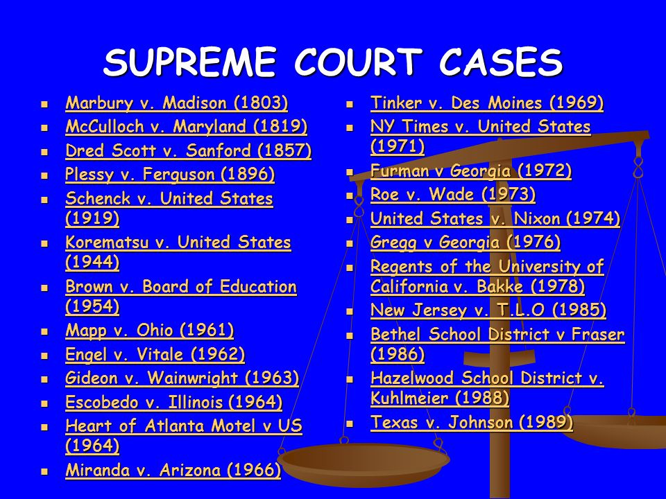 an analysis of the marbury v madison supreme court case Marbury v madison case brief (includes reflection)  this means that the supreme court is not authorized to hear the case and thus does not have the power to grant.
