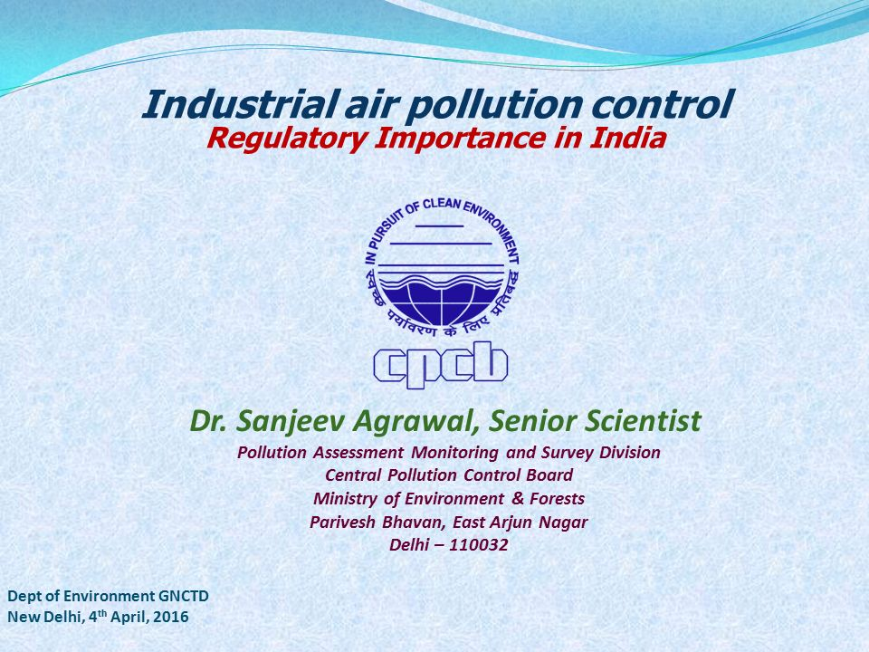 importance of pollution control V course description apti 452: principles and practices of air pollution control is a three-day, resident instructional course designed to present an introductory view of all.