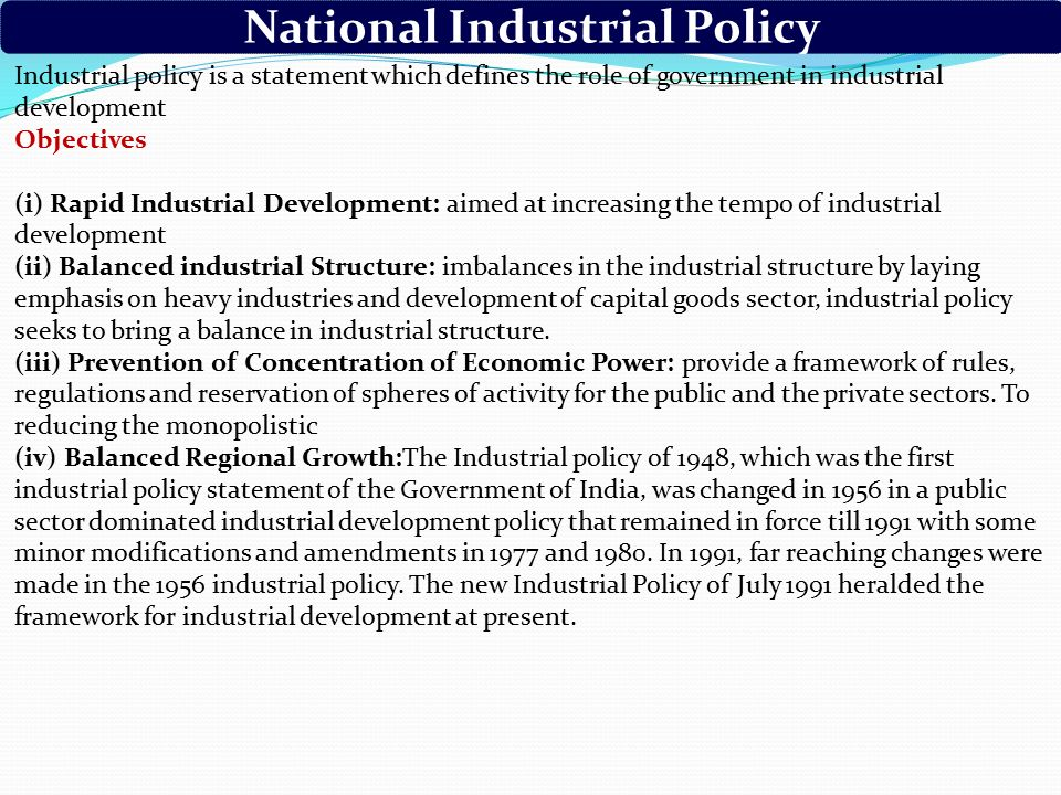 importance of new industrial policy in 1991 The all-round changes introduced in the industrial policy framework have given a new new industrial policy 1991 clipping is a handy way to collect important.