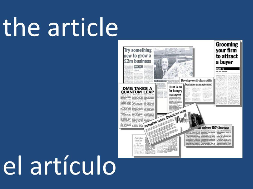 the article el artículo