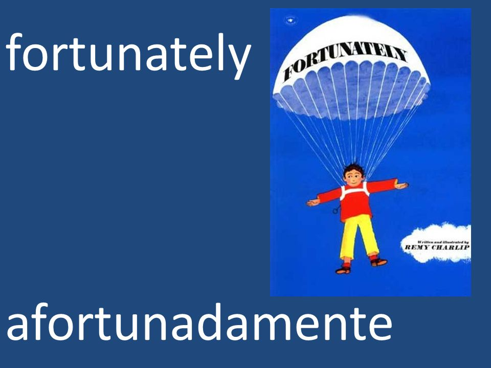 fortunately afortunadamente