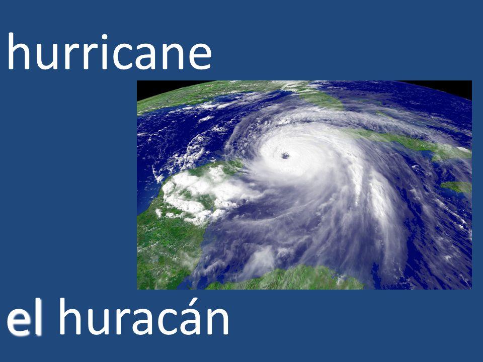 hurricane el huracán