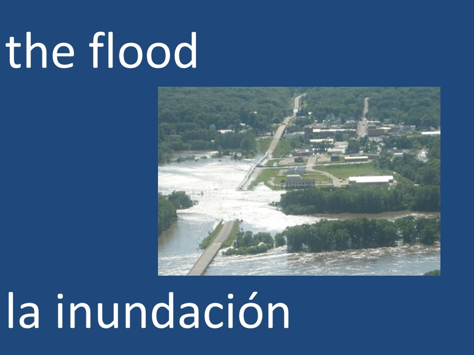 the flood la inundación