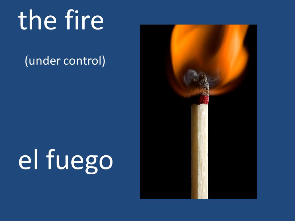 the fire (under control)