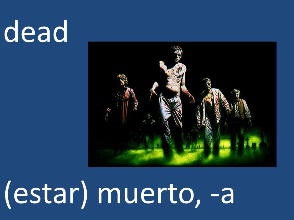 dead (estar) muerto, -a
